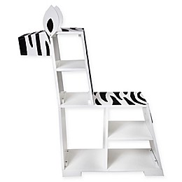 Teamson Kids Bookcase Chair in White/black