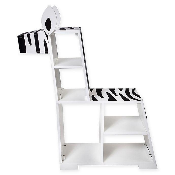 Alternate image 1 for Teamson Kids Bookcase Chair in White/black