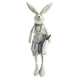 Northlight® 19.5-Inch Sitting Easter Bunny Boy Figure in Grey/Tan