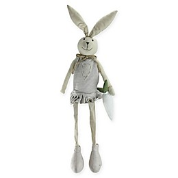 Northlight® 19.5-Inch Sitting Easter Bunny Girl Figure in Grey