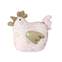 Northlight® 8-Inch Floral Easter Hen Figure in Pink