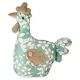Northlight® 10-Inch Floral Easter Hen Figure in Green