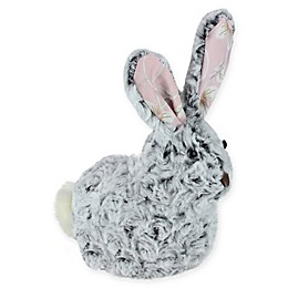 Northlight® 9-Inch Plush Floral Easter Rabbit Figure in Grey