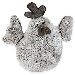 Northlight® 10-Inch Plush Rooster Figure Easter Decor in Grey
