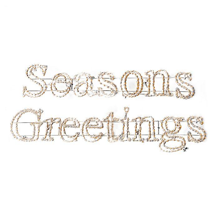Alternate image 1 for Lighted 19-Foot Seasoned Greetings Sign