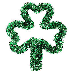 Northlight 17-Inch Tinsel Shamrock St. Patrick's Day Window Decoration in Green