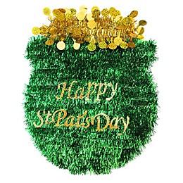 Northlight 17-Inch Tinsel Irish Pot O' Gold St. Patrick's Day Decoration