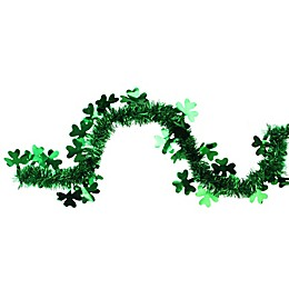 Northlight 25-Foot Tinsel Shamrock St. Patrick's Day Garland in Green