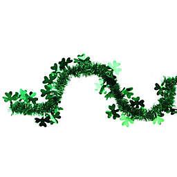 Northlight 25-Foot Tinsel Shamrock St. Patrick's Day Garland in Green