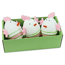 Northlight Easter Chicken Figures in Green (Set of 3)