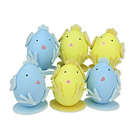Northlight Easter Chicken Figures in Yellow (Set of 6)