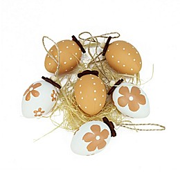 Northlight Decorative Easter Egg Assortment in White/Natural (Set of 6)
