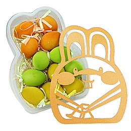 Northlight Easter Egg Assortment in Bunny Shaped Box in Orange/Green/Yellow