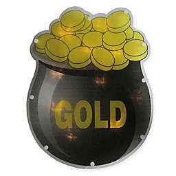 Sienna LED Lighted Pot of Gold Window Silhouette