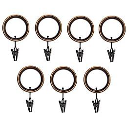 Umbra® Esquire Espresso Clip Rings (Set of 7)