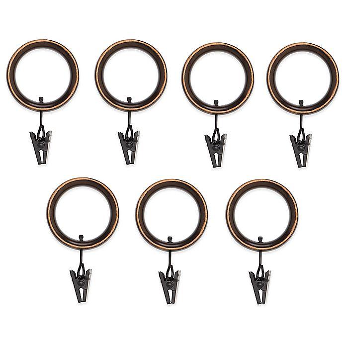Alternate image 1 for Umbra® Esquire Espresso Clip Rings (Set of 7)