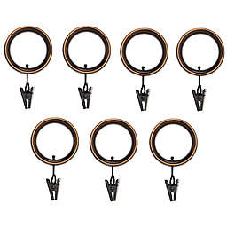 Umbra® Esquire Espresso Clip Rings (Set of 7)
