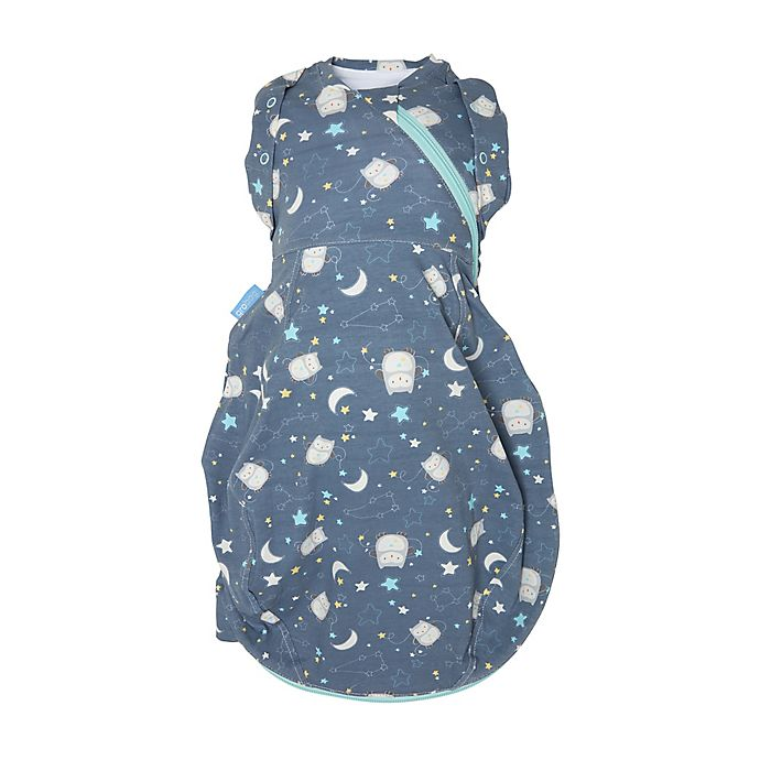 Alternate image 1 for Tommee Tippee® Newborn Ollie the Owl Grosnug 2-in-1 Swaddle in Blue