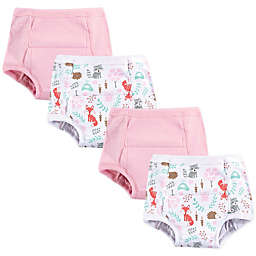 Hudson Baby® 4-Pack Woodland Fox Toddler Training Pants in Pink