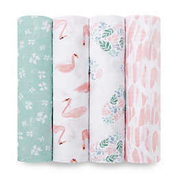 aden® by aden + anais® 4-Pack Cotton Muslin Swaddle Blankets in Briar Rose
