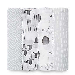 aden + anais™ essentials 4-Pack Cotton Muslin Swaddle Blankets in Pasture