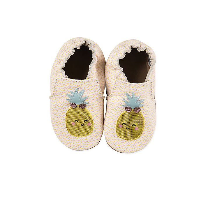 Alternate image 1 for Robeez® Core Happy Fruit Shoes in Cream