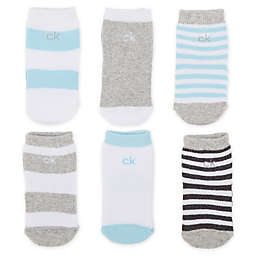 Calvin Klein® 6-Pack Crew Sox in Blue