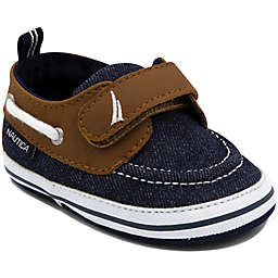 Nautica® Tiny River Boat Shoe in Denim/Tan