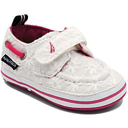 Nautica® Tiny River Eyelet Boat Shoe in White/Pink