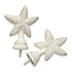 Cambria® Complete White Starfish Finials - Set of 2