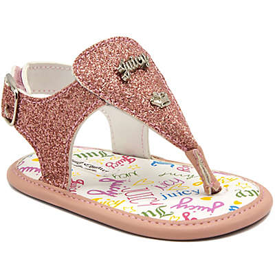 Juicy Couture® Thong Glitter Sandals in Pink
