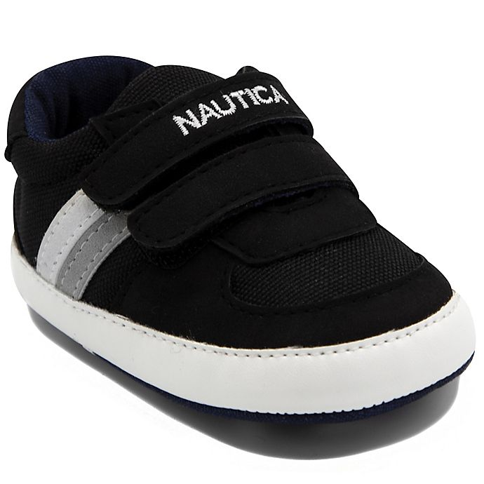 Alternate image 1 for Nautica® Size 6-9M Tiny Hull Sneakers in Black