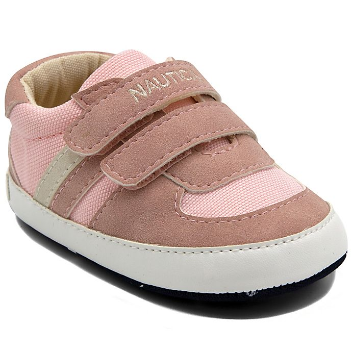 Alternate image 1 for Nautica® Size 9-12M Tiny Hull Sneakers in Pink