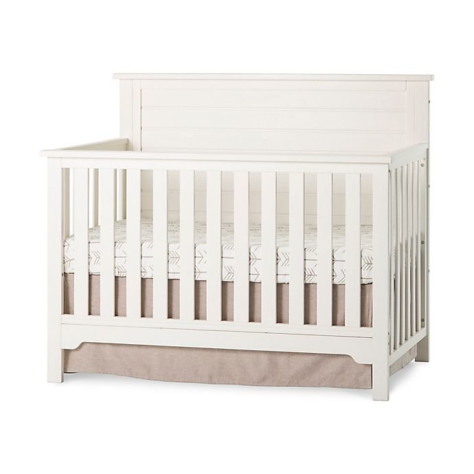 Alternate image 1 for Child Craft™ Forever Eclectic™ Farmhouse Flat Top Convertible Crib in Brushed Cotton