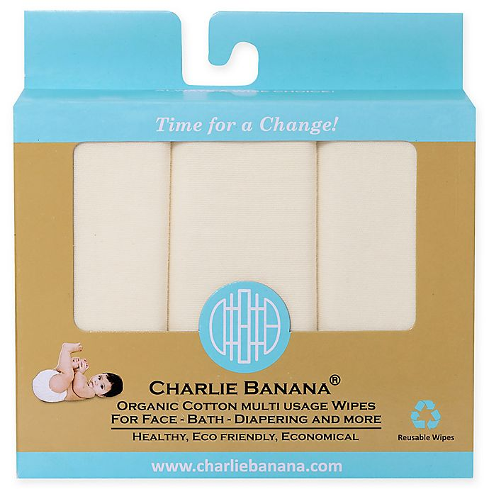 Alternate image 1 for Charlie Banana® 10-Pack Organic Cotton Wipes