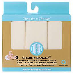 Charlie Banana® 10-Pack Organic Cotton Wipes