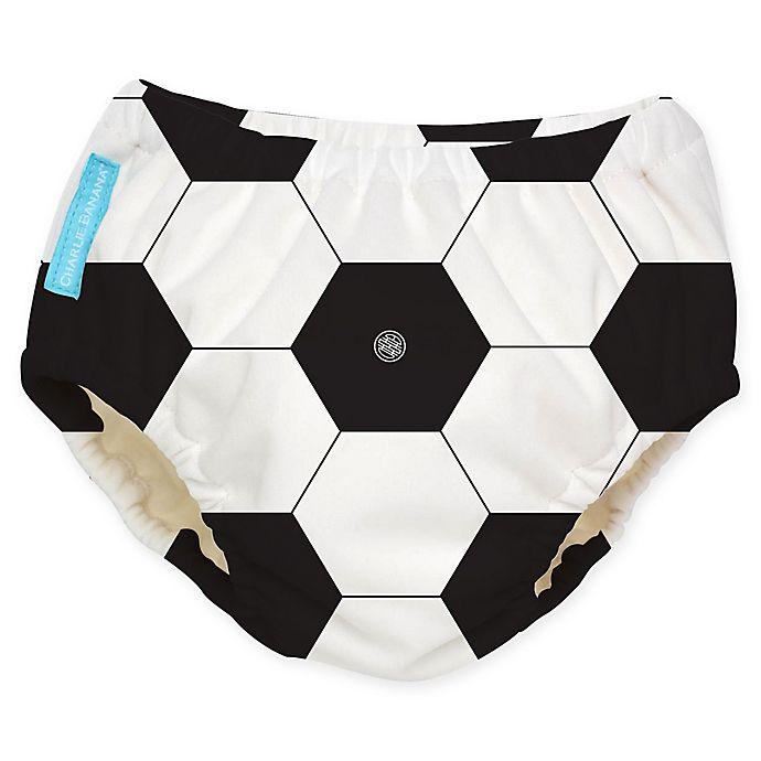 Alternate image 1 for Charlie Banana® Medium Reusable Swim Diaper in Soccer
