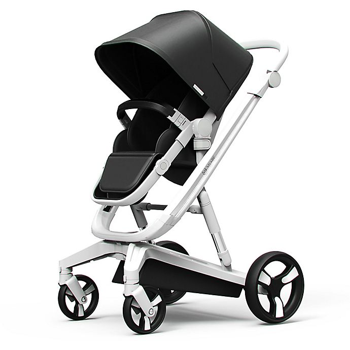 Alternate image 1 for Milkbe Lullaby  Auto Stopping Stroller in Black
