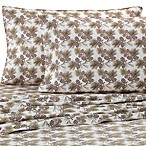 Micro Flannel® Printed Pinecone Queen Sheet Set