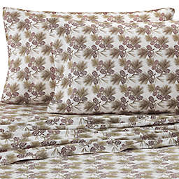 Micro Flannel® Printed Pinecone Sheet Set