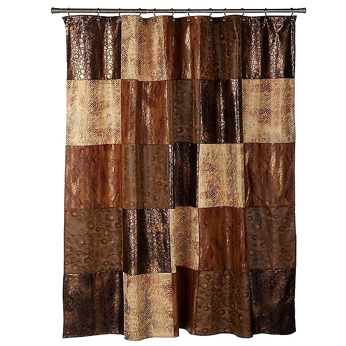 Alternate image 1 for Zambia Shower Curtain in Brown