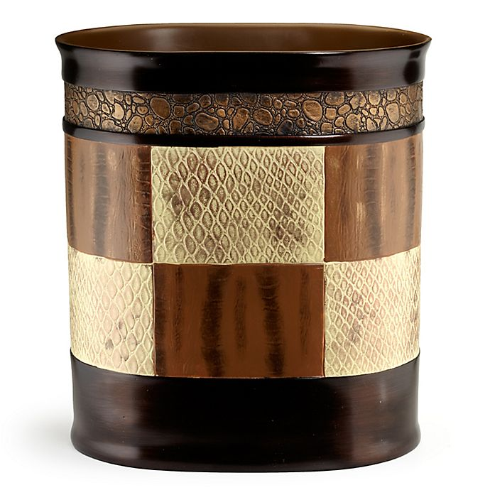 Alternate image 1 for Zambia Shower Wastebasket in Brown