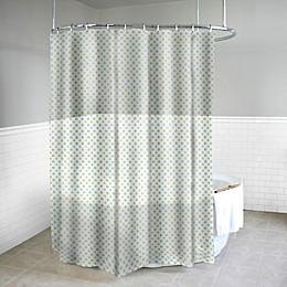 Dot Azure Shower Curtain in Yellow