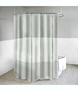 Cortina de baño de PEVA con diseño de lunares color amarillo