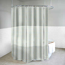 Dot Azure Shower Curtain in Yellow