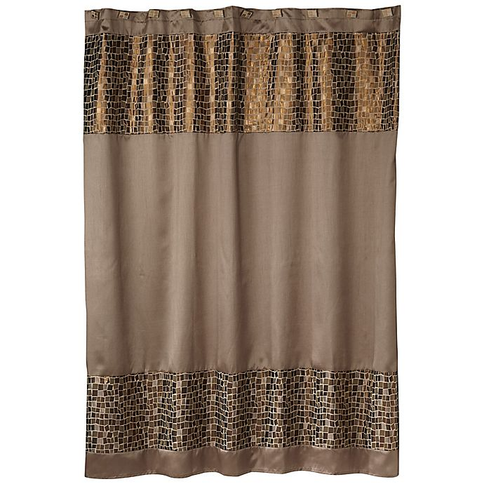 Por Bath Mosaic Shower Curtain In