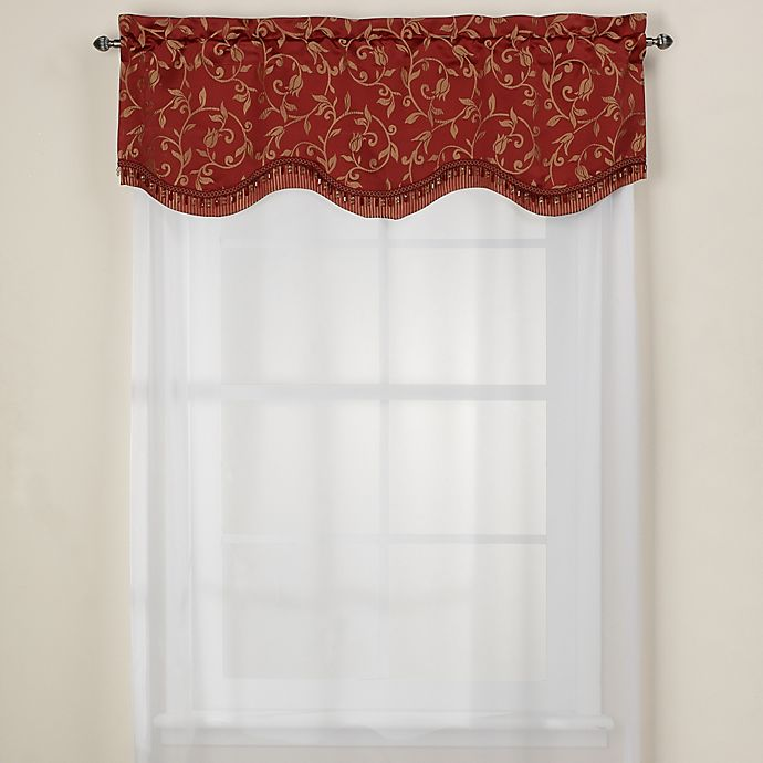 Montego Stripe Lined Scalloped Valance: Bed Bath & Beyond