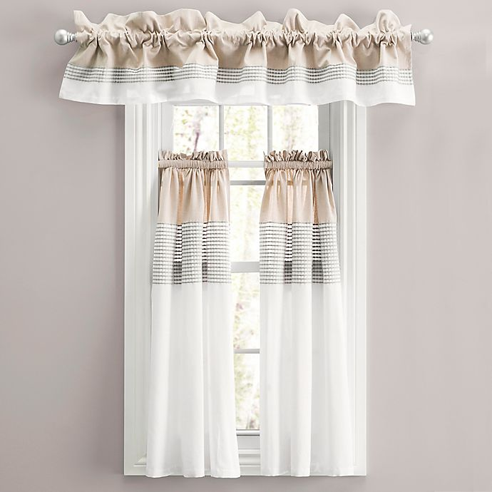 Alternate image 1 for Nora 45-Inch Window Curtain Tier Pair in Linen Grey