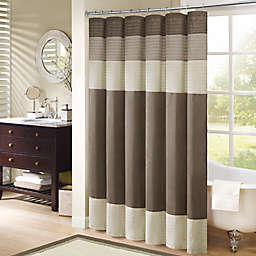 Madison Park® Amherst Pieced Shower Curtain in Natural