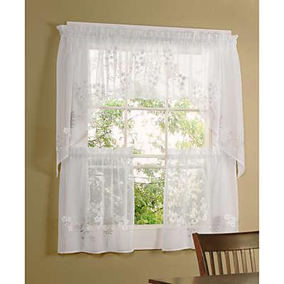 Hydrangea Kitchen Window Tiers